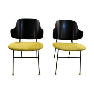 Ib Kofod Larsen Danish Penguin Lounge Chairs Pair