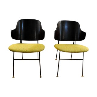 Ib Kofod Larsen Danish Penguin Lounge Chairs  Pair