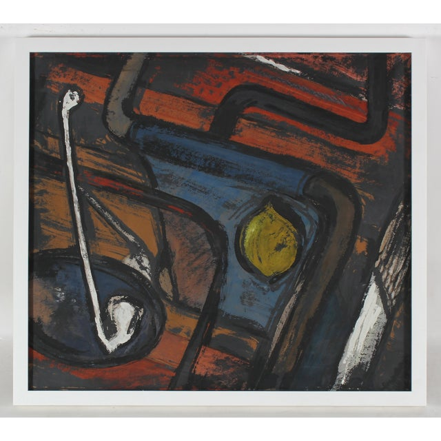 Mid Century Abstract Still Life Painting - Image 2 of 3
