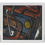 Image of Mid Century Abstract Still Life Painting