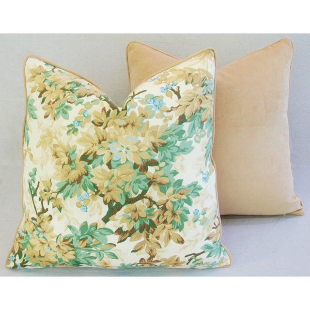Designer Brunschwig & Fils Foliage Pillows - Pair - Image 10 of 11
