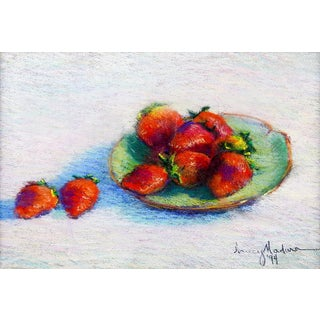 Strawberry Still Life Pastel