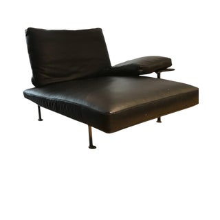 B&B Italia - Diesis Black Leather Chaise Lounges - a Pair