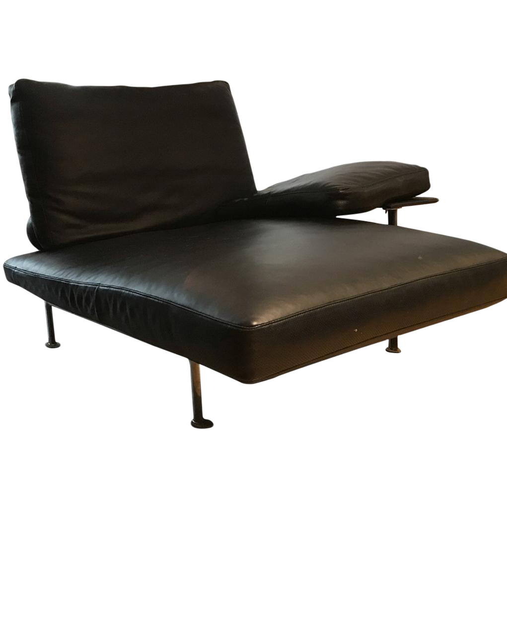 Bu0026B Italia - Diesis Black Leather Chaise Lounges - a Pair - Image 1 ...  sc 1 st  Chairish : black leather chaise lounge - Sectionals, Sofas & Couches
