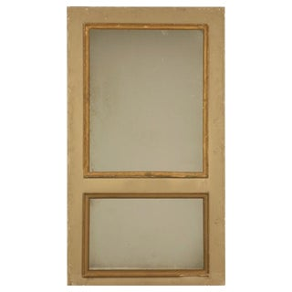 French Original Paint Trumeau Mirror, circa 1880