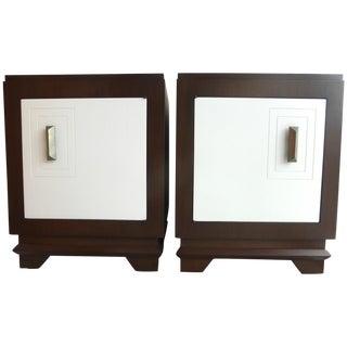 Mid-Century Art Deco Style Nightstands - Pair