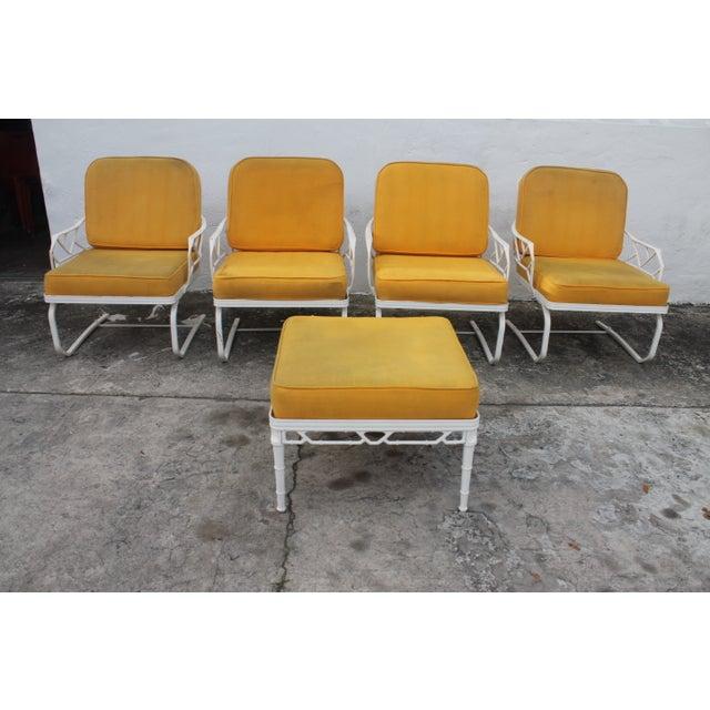 Image of Brown Jordan Calcutta Outdoor 4 Chairs & Ottoman