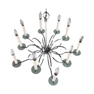 Vintage Chrome and Lucite Chandelier