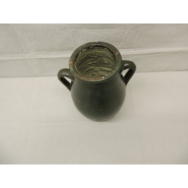 Antique French Green Terracotta Confit Pot - Image 3 of 4
