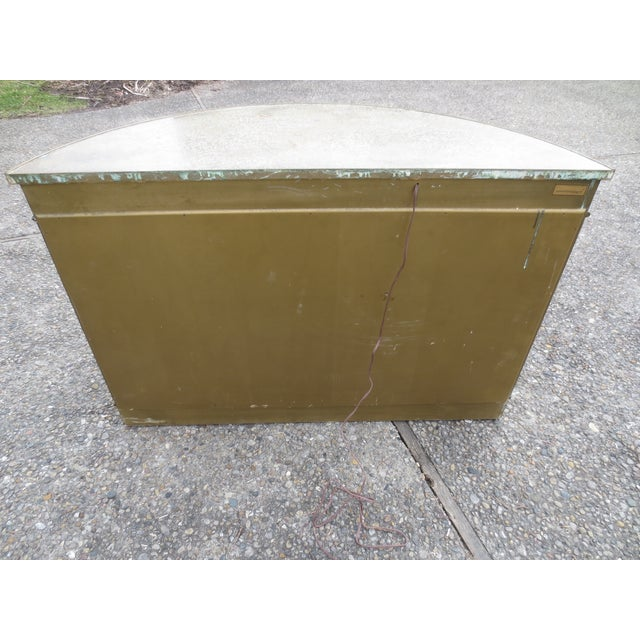 Mastercraft 1970s Lighted Demi-Lune Brass Console - Image 9 of 10