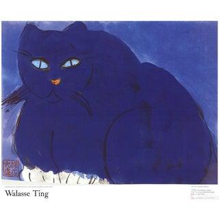 Walasse Ting, Blue Cat, 1987 Poster