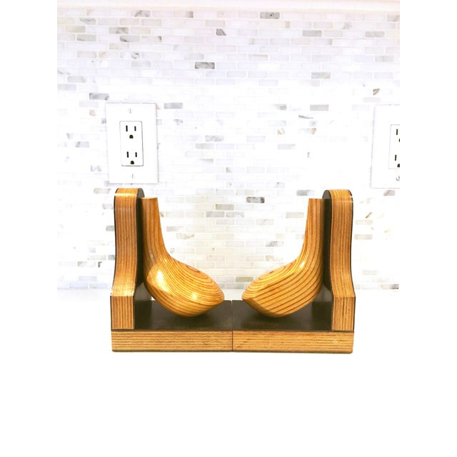 Mid-Century Wood Golf Club Bookends - A Pair - Image 5 of 6