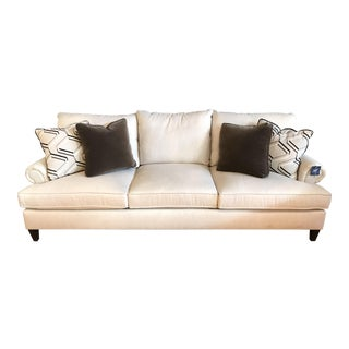 Bernhardt Rolled Arm Linen Blend Sofa