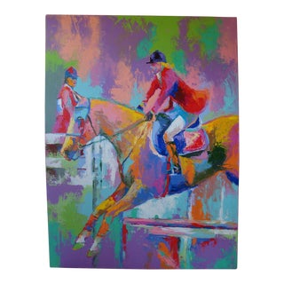 Abstract Equestrian Steeplechase Jump Painting