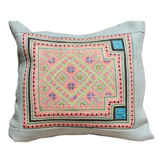 Hmong Cross Stitch Pillow