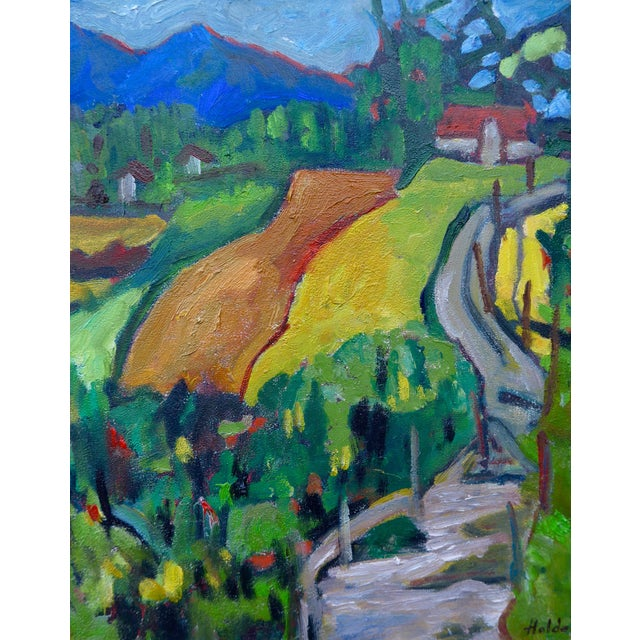 Swiss Farm in Summer Plein Air Painting - Image 6 of 6