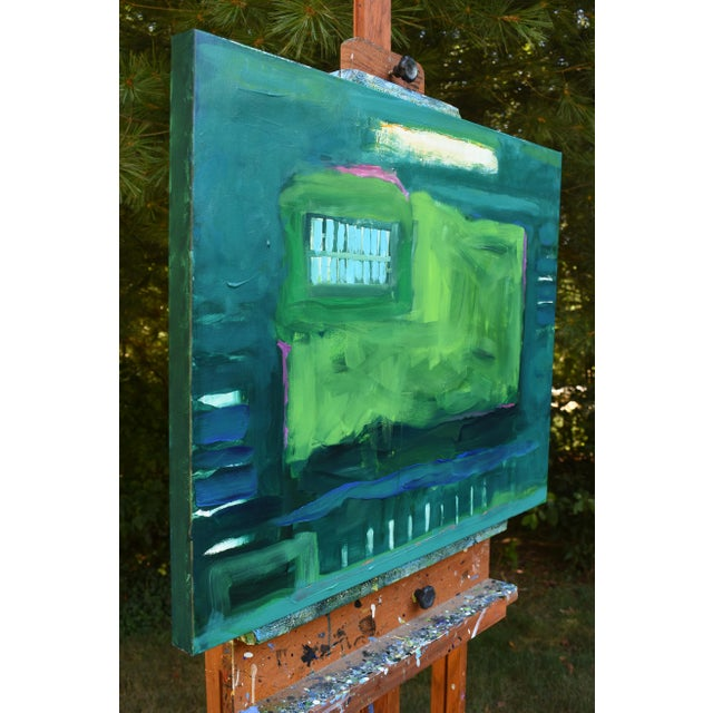 "Stephen Remick ""Garden Party, Waning"" Abstract Painting - Image 5 of 8"