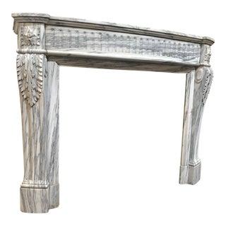 c. 1860 Louis XVI Marble Mantel