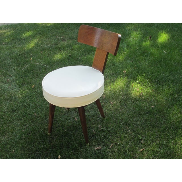 Mid-Century Swivel Vanity Chair - Image 4 of 7