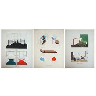 Vintage French Art Deco Design Sheets - Set of 3