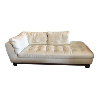 Roche Bobois White Leather Chaise