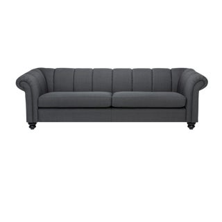 Sarreid Ltd. Antrazite Black Sofa With Oak Legs