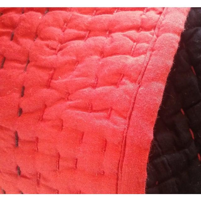 Red & Black Kantha Coverlet - Image 4 of 4