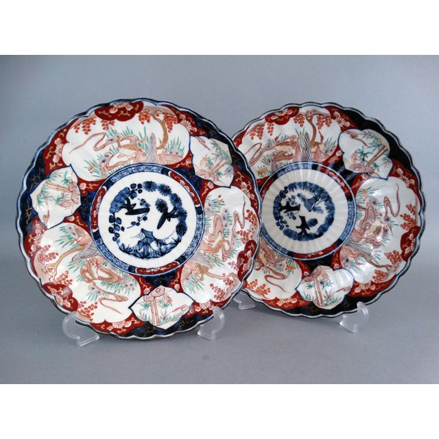 Japanese Porcelain Imari Chargers - A Pair - Image 9 of 9