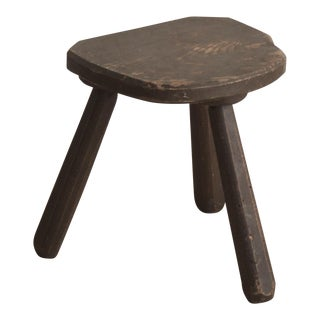 French Vintage Wooden Stool