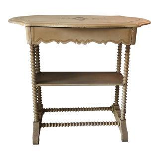 Spool Leg Pine Wood Table, 1867