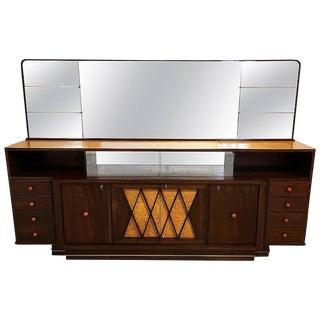 Monumental Italian Sideboard and Mirror by Osvaldo Borsani