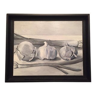Black & White Vegetable Still Life Painting