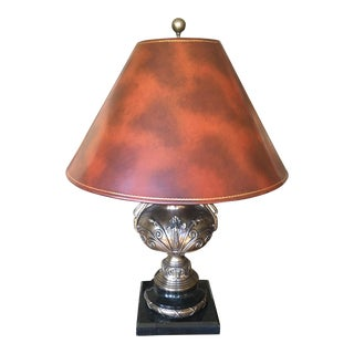 Maitland Smith Table Lamp With Leather Shade