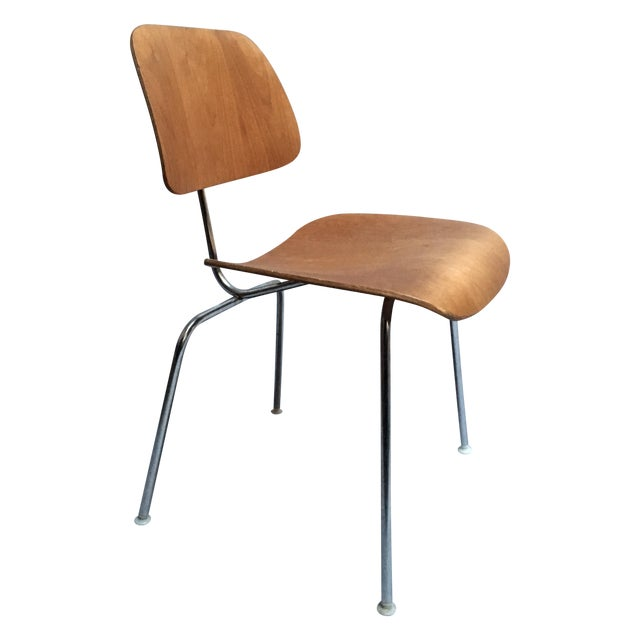 "Vintage Herman Miller Walnut ""DCM"" Chair - Image 1 of 6"