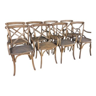 Restoration Hardware Madeliene Arm Chairs - Set of 8