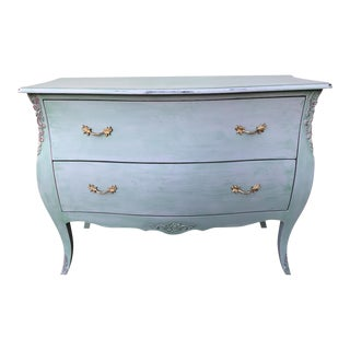 Washed Green Finish Bombe Chest