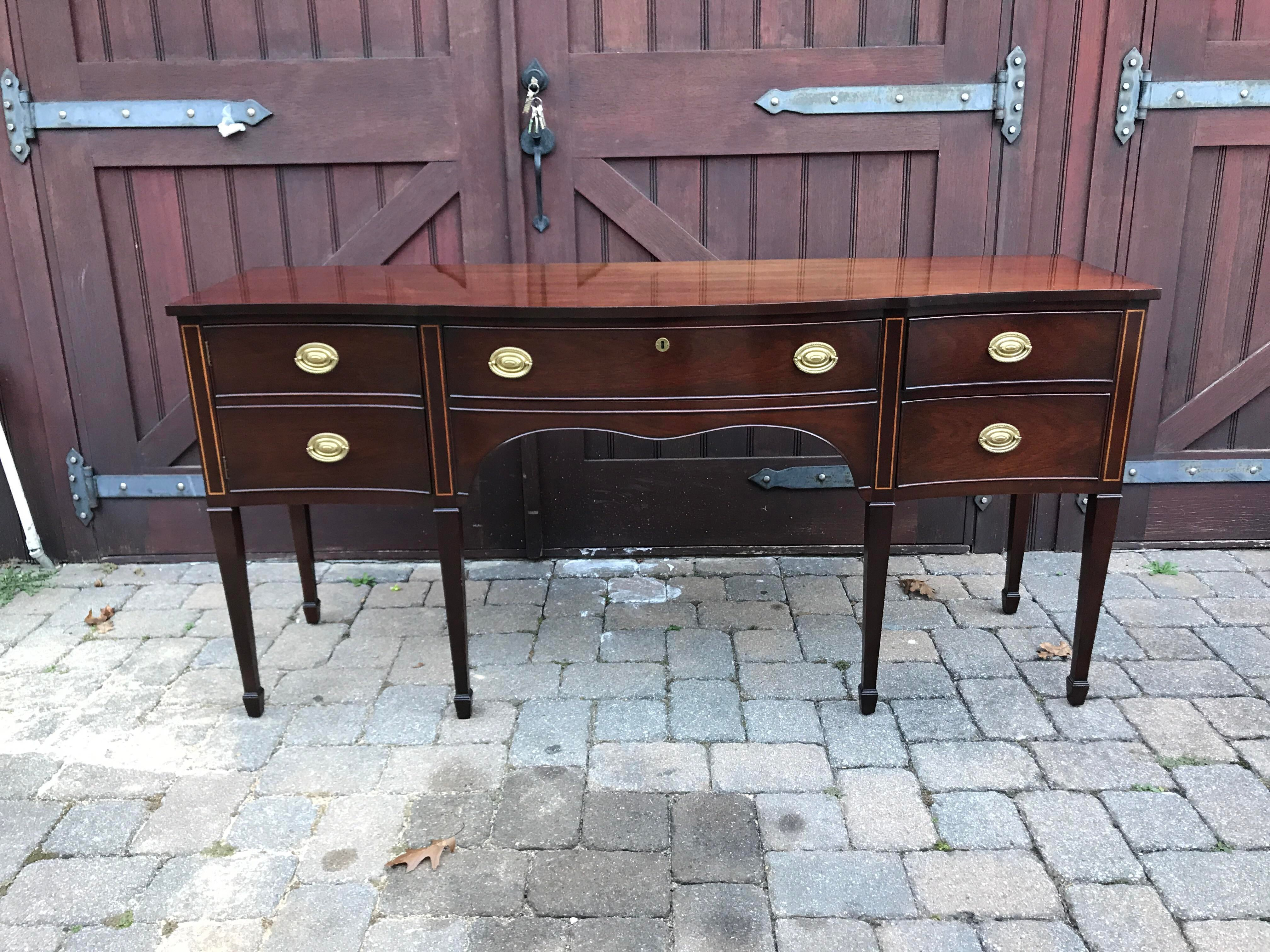 Great Kindel Furniture Winterthur Mahogany Sideboard   Image 3 Of 11