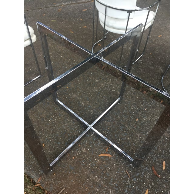 Thayer Coggin Chrome Chairs and Base - Image 10 of 11
