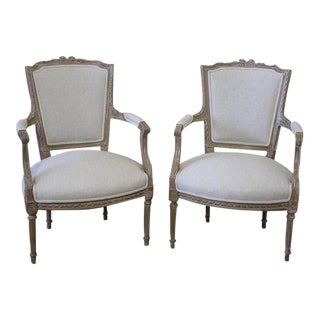 20th Century Louis XVI Style Faeuteils - A Pair