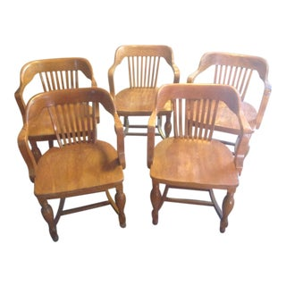 Vintage Mission Oak Chairs - Set of 5