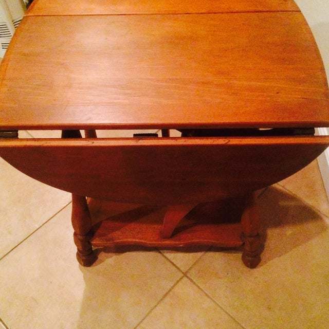 Antique Gate Leg Side Table - Image 7 of 8