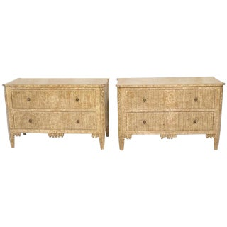 Italian Neoclassic Paint Decorated Commodes - a Pair