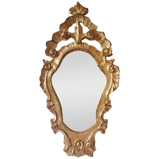 Vintage Italian Rococo-Style Gilt Mirror