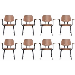 Brunswic Prouve-Style Plywood Chairs - Set of 8