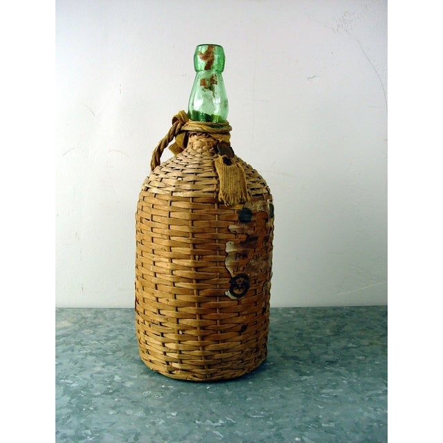 Vintage Bacardi Rum Wicker Covered Bottle - Image 2 of 5