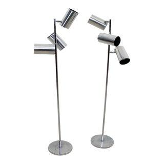 Triennale Chrome Floor Lamps - A Pair
