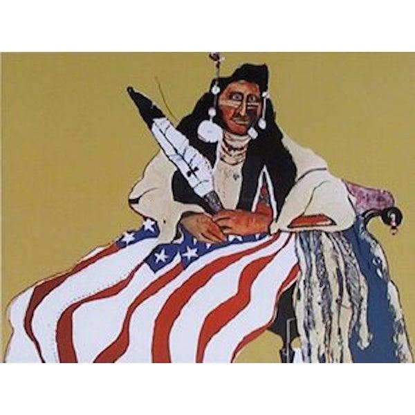 """Image of Fritz Scholder, """"Bicentennial Indian,"""" Lithograph"""