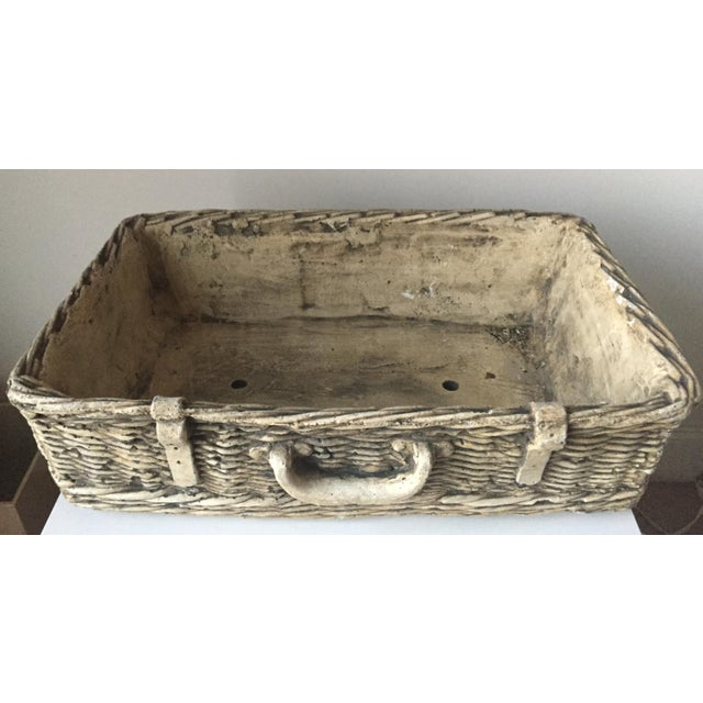 Vintage Concrete Basket Planter - Image 6 of 6