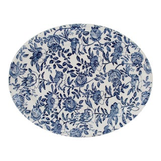 English Blue Chintz Platter