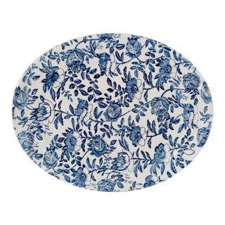 English Blue Chintz Platter
